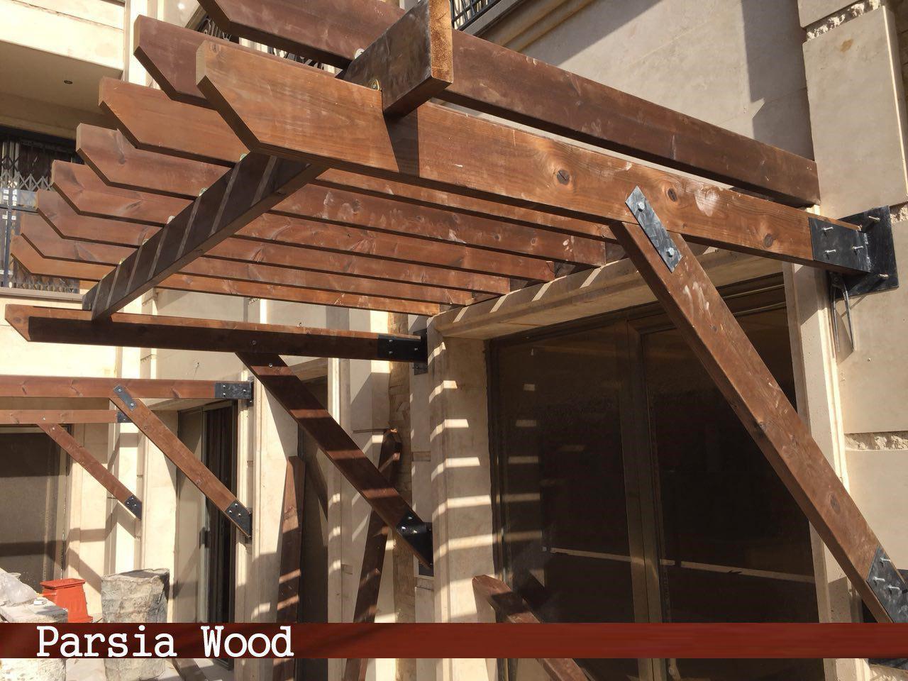 اصول پیاده سازی سقف سایه بان چوبی
