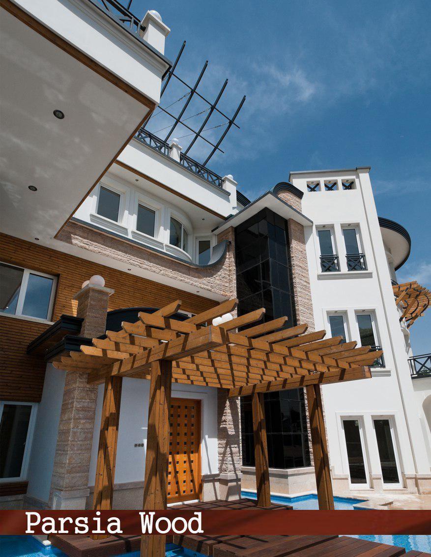 آماده سازی سقف سایبان چوبی