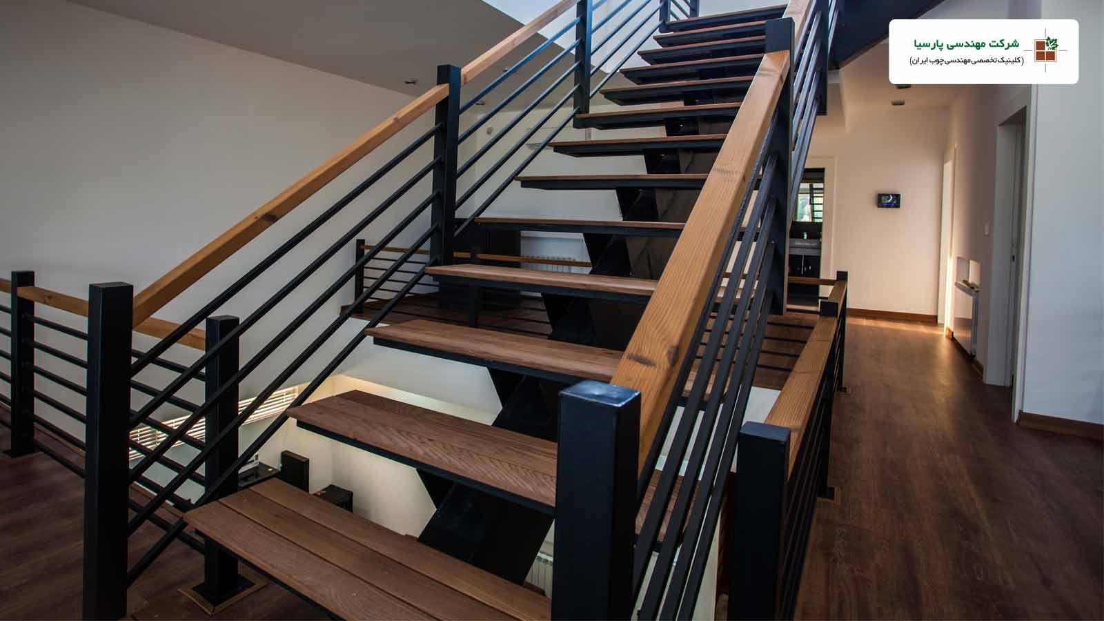 راه پله و کف چوبی ترموود