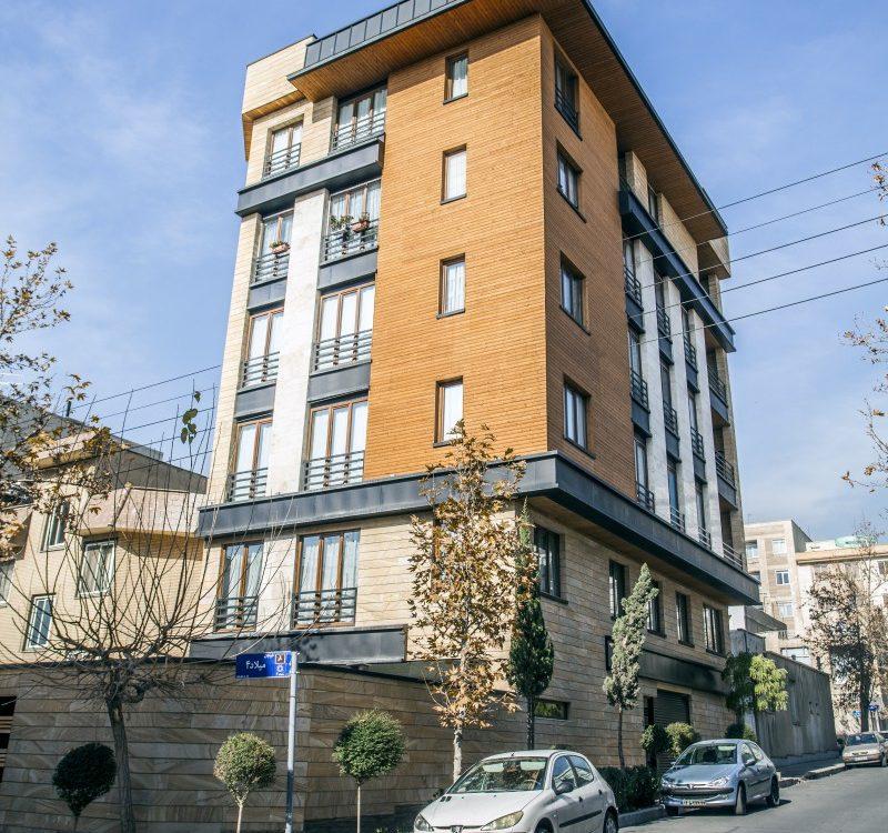 ساختمان با نمای چوب ترمووود