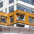 نمای چوبی ساختمان پاینده