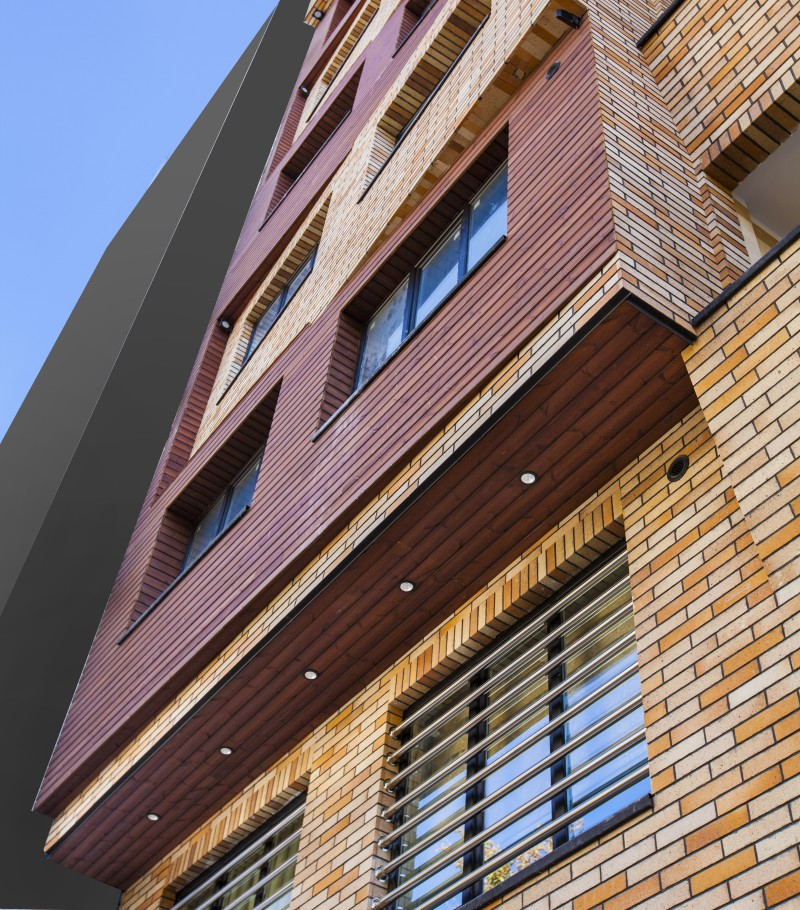 زینعلی نمای چوبی ساختمان