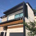 نمای-چوبی-ساختمان-تهران-پارس-از-نمای-جلو-به-همراه-نمای-سنگی-و-چوبی