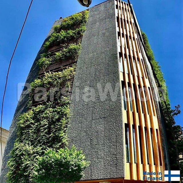 پروژه-نمای-چوبی-ساختمان-در-ولنجک-نمای-روبروی-ساختمان
